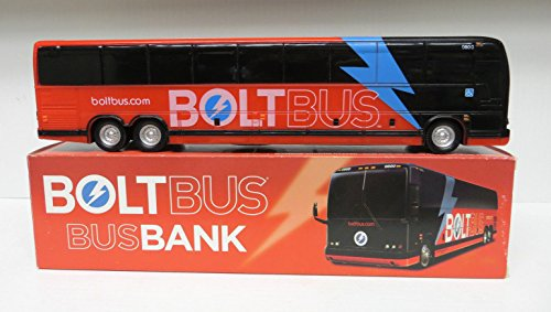 Prevost Bus (Greyhound Bolt Bus model bus bank 1/50 Scale)
