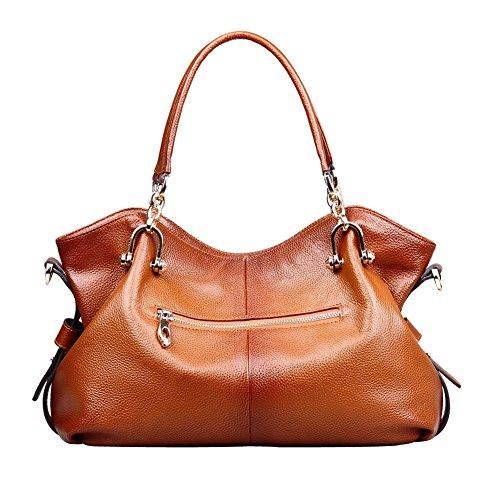 Wolu Womens Soft Jahrgang Tote Schultertasche Messenger Handtaschen der Damen Top-Griff Cross Body Bag