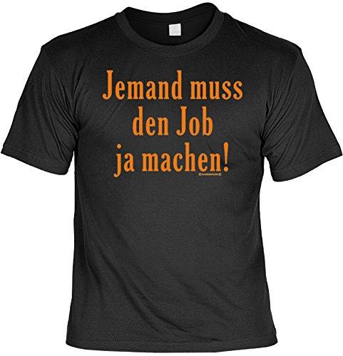 T-Shirt - Jemand muss den Job ja machen - Geschenk Set Funshirt und Mini Shirt für Leute mit Humor