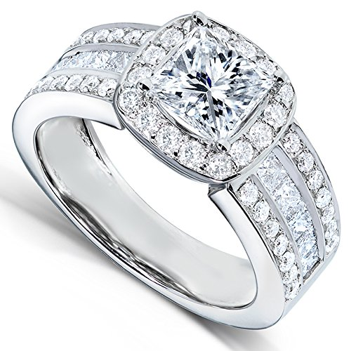 Princess Cut Diamond Engagement Ring 2 Carat (ctw) in 14K White Gold