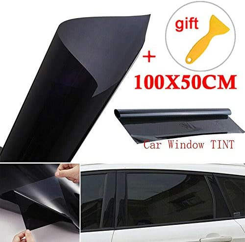 Lovelychica VLT 5/% Uncut Roll 39 X 20 FT Window Tint Film Charcoal Black Car Glass Office-Non-Reflective Dyed Film