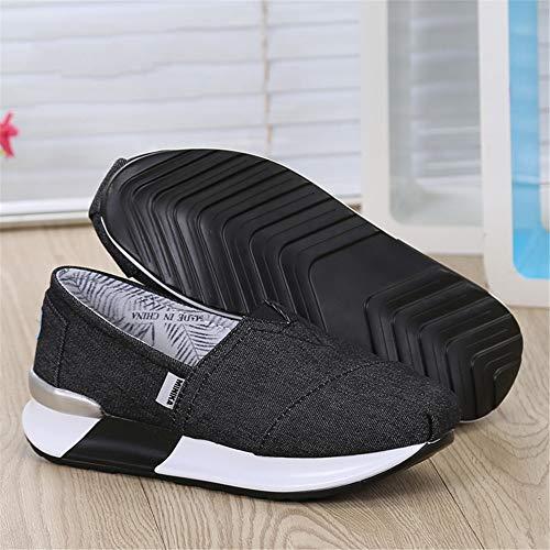 39 Zapatos de Transpirables Color Plataforma de Lona tamaño FangYOU1314 Zapatos Mujer 3 de Casuales Zapatillas Zapatos Negro Negro EU 1 gqxRZp