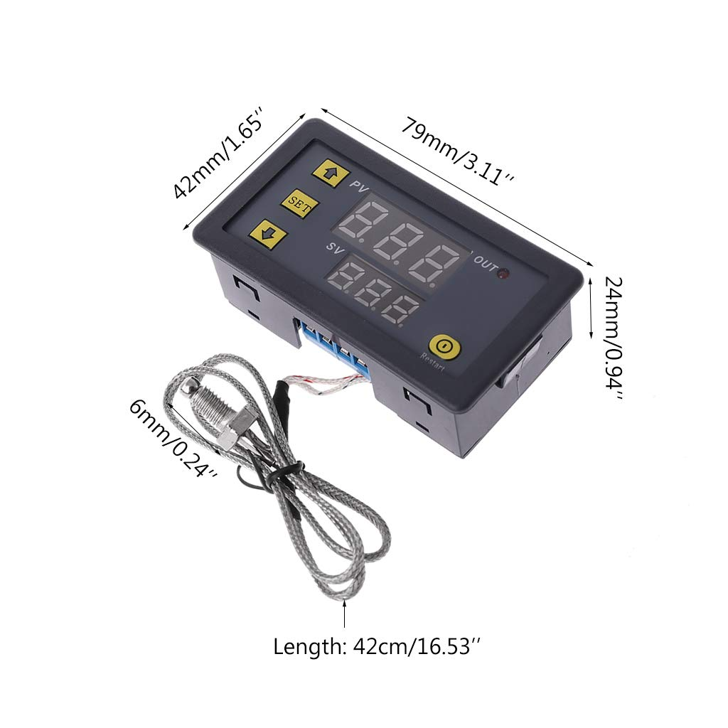 60~500℃ Digital LED High Temperature Control Switch Thermostat K Thermocouple