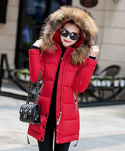 Mode Warm Rot Marque Elégant Down Matelassé Fit Transition Produit Long Femmes Capuche Veste Hiver Slim Manteaux Plus Longues Vestes À Jour Plein Mode Fourrure En Air Avec Manches pw6qIxA7