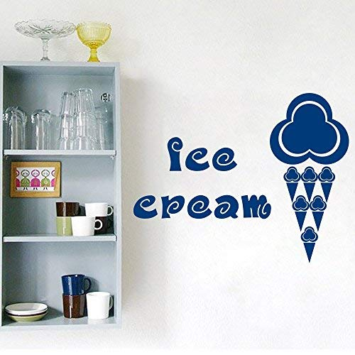 Athena Bacon Vinyl Sitcker Ice Cream Cones Quote Vinyl Lettering Stickers Wall Decals Decorating Ideas Window Art Home Design Wall Sticker 38in x 49in