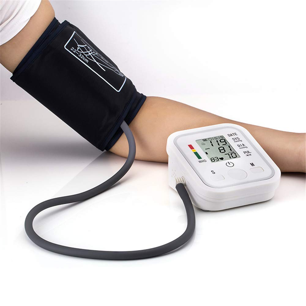Tensiómetro de Brazo Digital, Monitor Eléctrico de Presión Arterial Medición Automática de la Presión Arterial y pulso de frecuencia cardíaca detección,2 ...