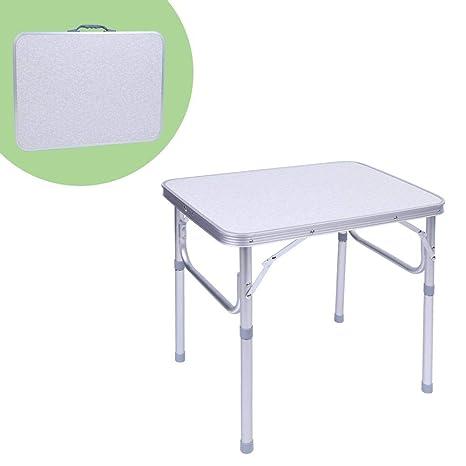Mesa de Picnic Plegable Ajustable para Cámping Acampar al Aire ...