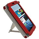 iGadgitz Red 'Guardian Triview' Leather Case Cover for Samsung Galaxy Tab 2 7.0 P3100 P3110 3G & WiFi Android 4.0 Internet Tablet