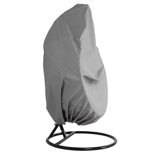 Polvere Rain Cover per Appendere Vimini Dondolo Patio con Giardino Sedia Uovo