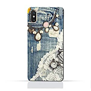 AMC Design Xiaomi Mi Mix 2S TPU Silicone Protective case with Modern Jeans Pattern