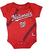 "Washington Nationals Newborn Red ""Stitches"" Creeper"