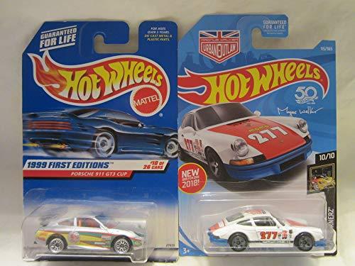 Hot Wheels 1999 First Editions Porsche 911 GT3 Cup & Nightburnerz '71 Porsche 911 Die Cast 1/64 Scale 2 Car Bundle! (Porsche Cup Gt3)