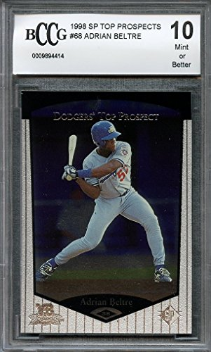 1998 sp top prospects #68 ADRIAN BELTRE texas rangers rookie card BGS BCCG 10 Graded Card