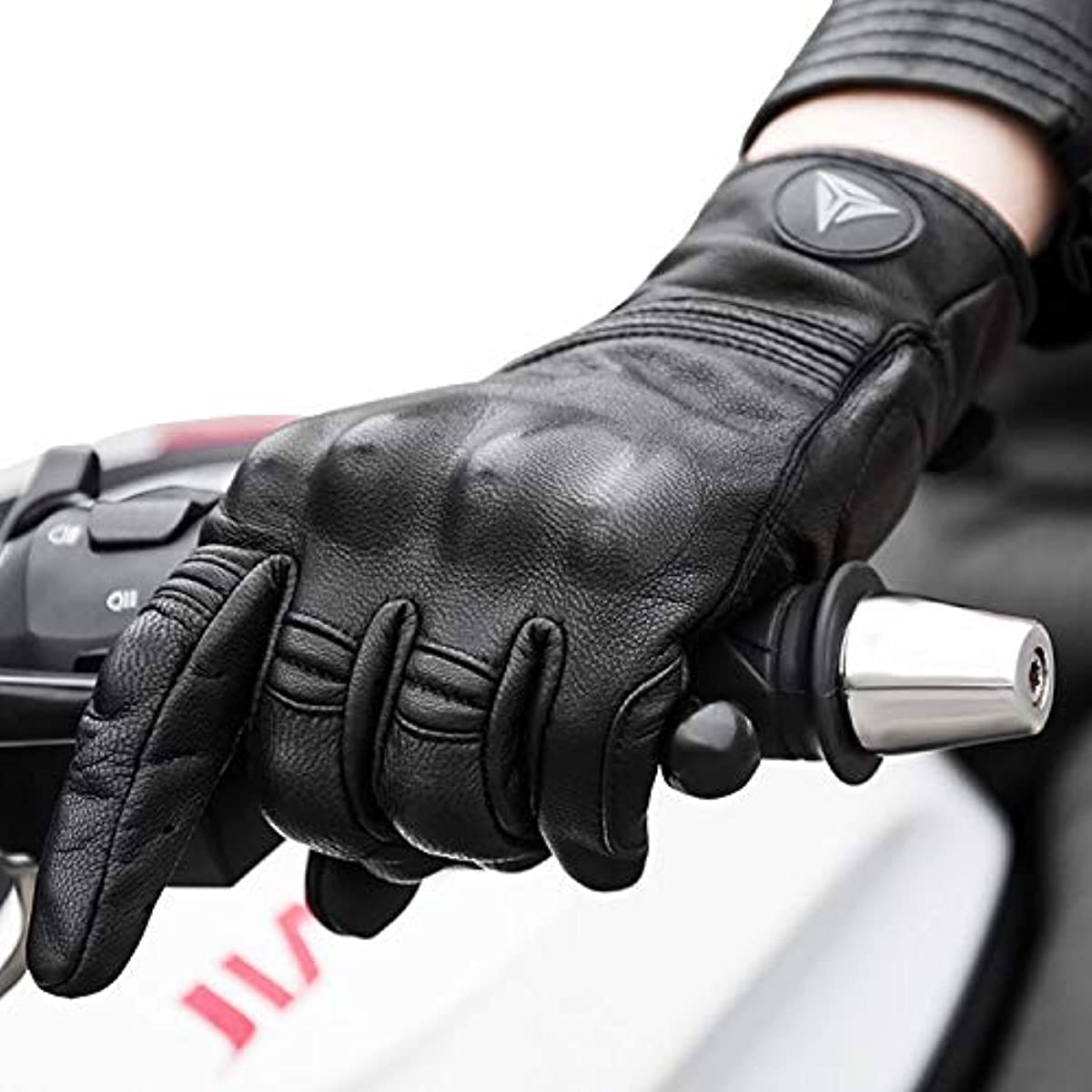 [해외] 오토바이 글러브 가죽 고 토스 킹 로브 오토바이 글러브 protection 퍼터입 블랙 (블랙, L)