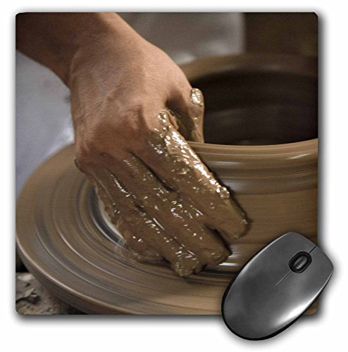 (3dRose LLC 8 x 8 x 0.25 Nicaragua Catarina Pottery Wheel and Clay John and Lisa Merrill Mouse Pad (mp_86880_1))