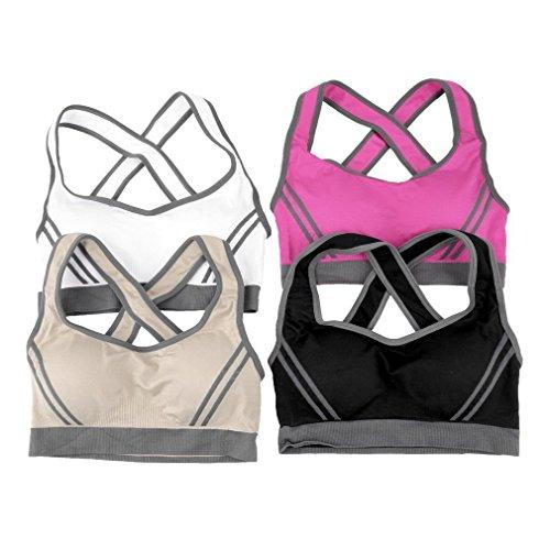 sf-world - Sujetador deportivo - para mujer rosa (b)