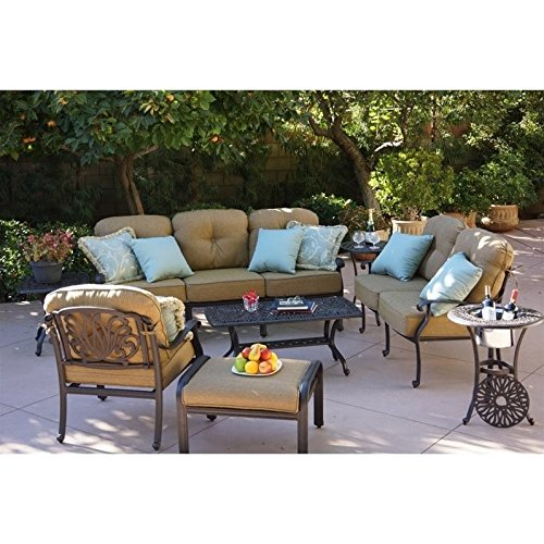 Darlee Elisabeth 6 Piece Patio Sofa Set in Antique -