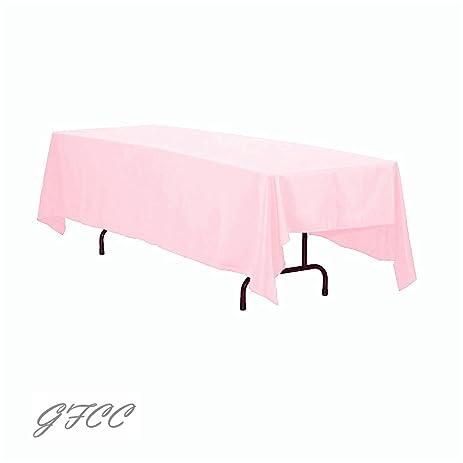GFCC 70 X 120  Inch Pink Rectangular Tablecloth
