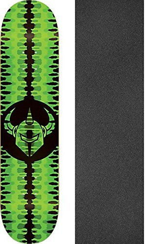 ダムわずかな水族館Darkstarバッジスケートdeck-7.75ネオングリーンW / Mob Grip