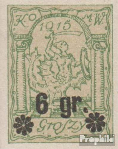 German. Post Poland - Warsaw 10U ungezähnt 1916 Local Post Warsaw (Stamps for Collectors)