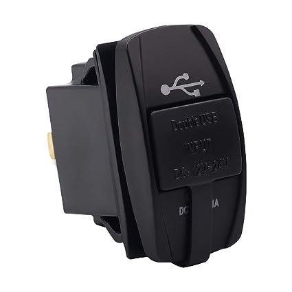 Heaviesk Enchufe del Cargador USB para automóvil con luz LED ...