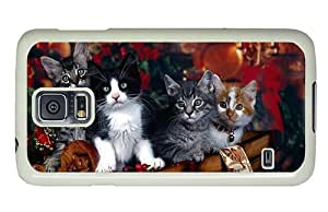 Hipster Samsung Galaxy S5 Case original Different Cats PC White for Samsung S5