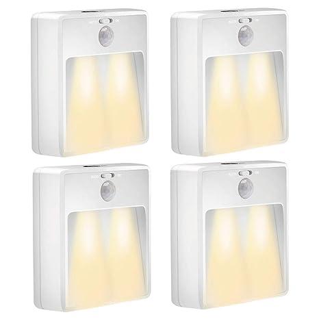 Luz de sensor de movimiento inalámbrico LED Luz de noche, luz de noche adhesivo