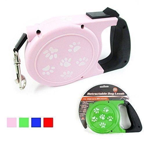 26 Ft Auto Retractable Dog Leash Stop Lock Small Medium Dogs