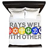 King Duvet Cover Prays Well With Others Peace Symbol