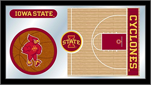 Holland Bar Stool Co. Iowa State Cyclones HBS Basketball Framed Hanging Glass Wall Mirror (26