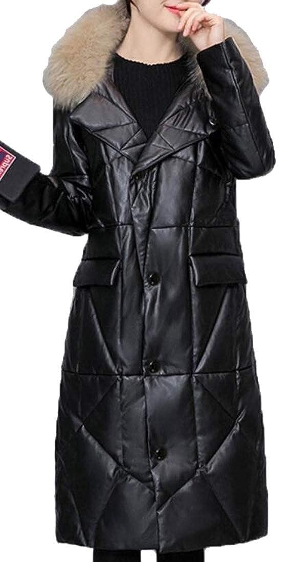 1 Generic Women's Winter Down Coat Winter Jacket with Faux Fur Trim Down Overcoat