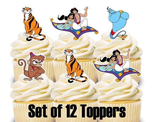 12 Cupcake Toppers Aladdin