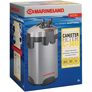 marineland pc ml360 multi stage canister filter 55 to 100 gallon 360gph. Black Bedroom Furniture Sets. Home Design Ideas