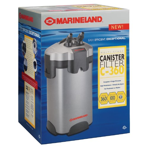 MarineLand PC-ML360 Multi-stage Canister Filter, 55 to 100-Gallon, 360GPH
