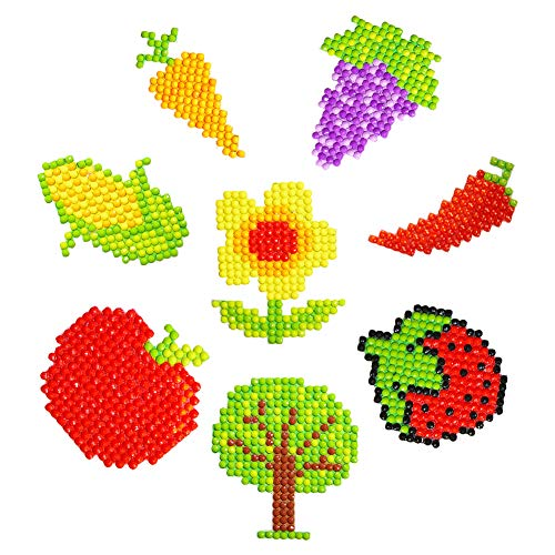 5D DIY Diamond Painting Kits for Kids Paint by Numbers Arts Crafts Fruits (8pcs/Set)