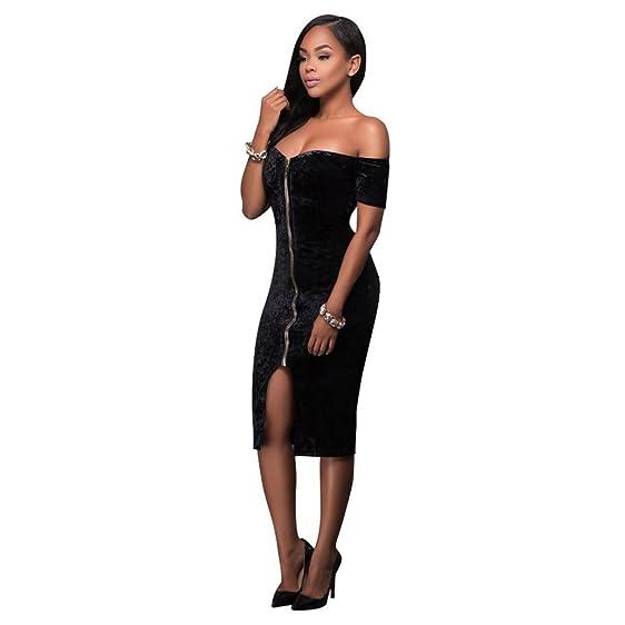 Zipper Backless Dress