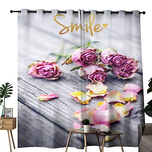 duommhome Sliding Curtains Closeup of Wedding Bouquet Flowers with Unity Candles. 70%-80% Light Shading, 2 Panels,W96 x L108 ()