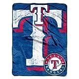 MLB Texas Rangers Triple Play Micro Raschel Throw Blanket, 46x60-Inch