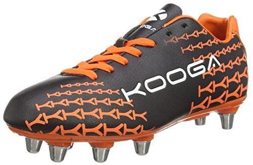 Kooga Control - Zapatillas de rugby para hombre Negro (black/amber)