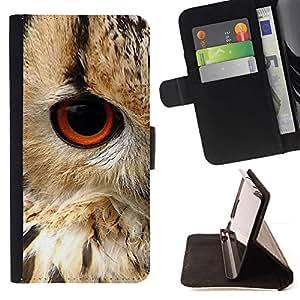 For Apple iPhone 5C Case , Plumas de ojo de pájaro de la naturaleza animal de piel- la tarjeta de Crédito Slots PU Funda de cuero Monedero caso cubierta de piel