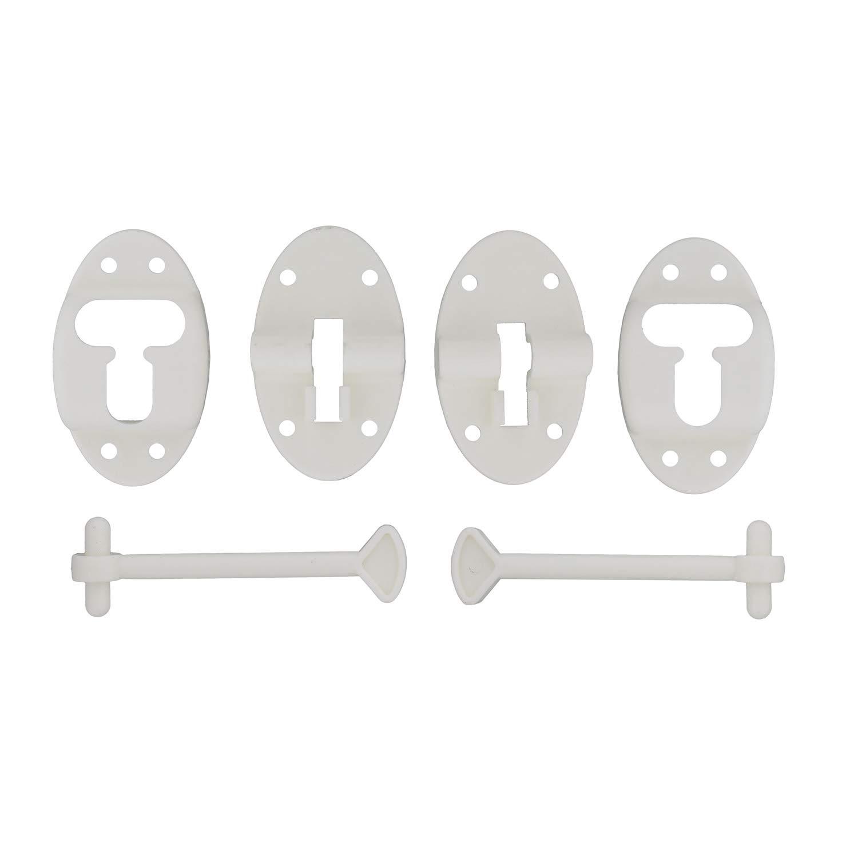 """RV Door Holder 2 Pack of RV Door Holders with RV Hardware 3.5/"""" Inch T-Style Camper and RV Door Latch Dumble"""