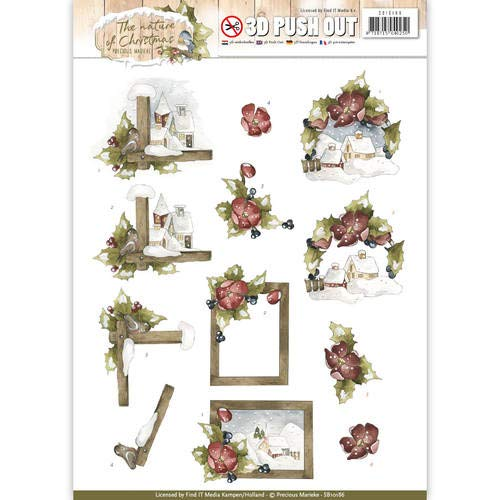 Precious Marieke - The Nature of Christmas - Christmas Landscapes- 3D Push Out Toppers SB10186