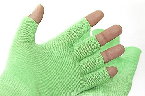 Best Gel Cotton Moisturizing Gloves Touch Screen - Eczema Relief - Heals Dry Skin and Cracked Hands Fast - Anti Aging Hand Treatment - Gel Lining Infused with Essential Oils and Vitamins (Cream Hand Eczema)
