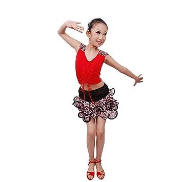gbdsd Niños Latin Dance Ropa Vestido De bailar para niña infantil ...