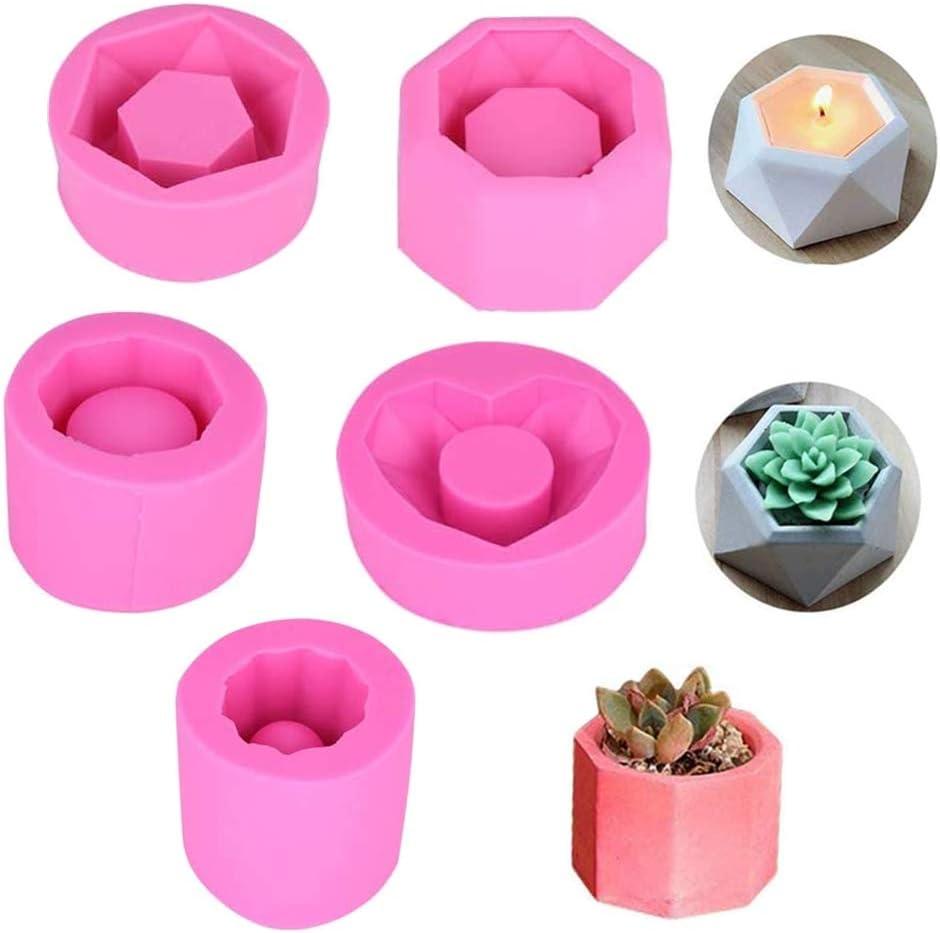 Silicone Flower Pot, DIY Flower Pot Mould Candlestick Mould Garden Planter Cement Gypsum Pots (BK1077)