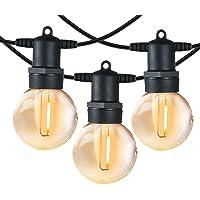 Shineled Lichtsnoer voor buiten, 12 G40 Globe plastic ledlampen met 2 reservelampen, IP65 waterdicht, voor binnen en…