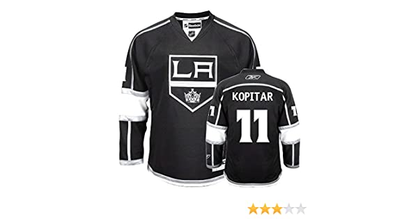 Amazon.com  Anze Kopitar Los Angeles Kings NHL Youth Black Home Replica  Jersey (Size Large X-Large)  Clothing a23f9e73b