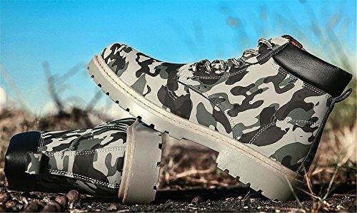 AgeeMi Shoes Herren Rund Zehe Kurzschaft Stiefel Erwachsene Hohe Sneakers Armee Grün