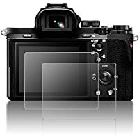 Protective Screen Guard for Sony Alpha A9 A7II A7RII A7SII A7RIII A7R Mark II Camera, AFUNTA 2 Pack Tempered Glass LCD Screen Protector for A7R3 A73 A72 A7R2 A7S2 A7R Mark 2
