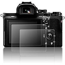 Protector de pantalla para Sony Alpha A9 A7II A7RII A7SII A7R Mark II Camera, AFUNTA Protector de pantalla para LCD 2 piezas de vidrio templado para A72 A7R2 A7S2 A7R Mark 2